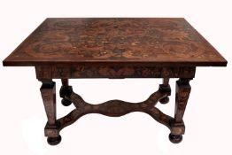 Rare Dutch Marquetry Table