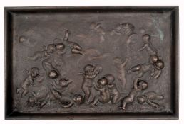 A Relief of Putti in the Manner of Clodion by Jean-Denis Larue