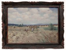 A Summer Landscape with Sheaves by Alois Tuzinsky