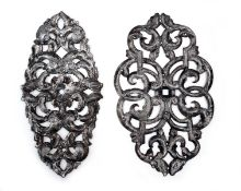 Two Shield-Shaped Openwork Baroque Mounts
