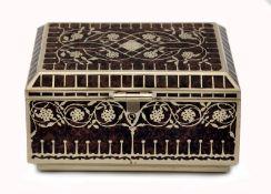 Art Nouveau Rosewood Box by Erhard & Söhne