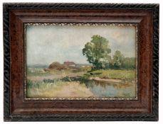 A Village Landscape by Ludovit Csordak