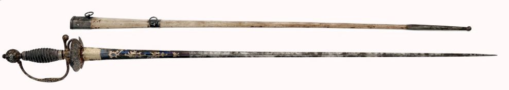 A Gilt Small-Sword with Chiselled Hilt