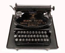 A Typewriter KLEIN-ADLER 1 in Case