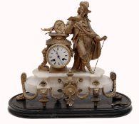 An Alabaster Mantel Clock