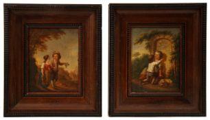 Pair of Painting, Children´s World, Johann Conrad Seekatz (attrib.)
