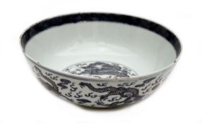 A Porcelain Dish with Dragons