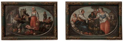 Pair baroque pictures