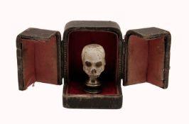 A Memento Mori Skull in a Case