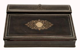 A Portable Folding Lap Writing Box with Inkwell