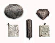 A set of small silver objects