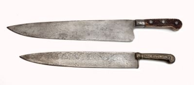 Two carving knifes
