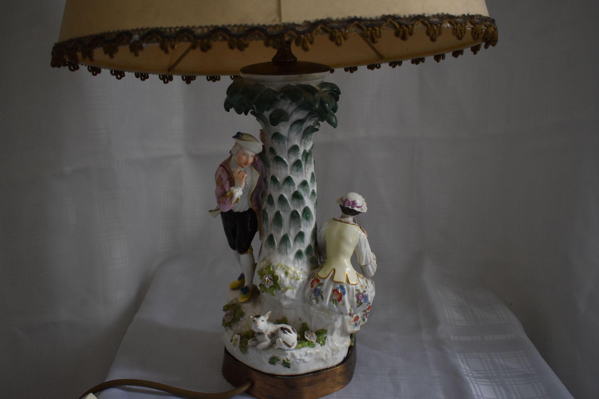 """Meissen Lampe, """"Paar mit Schäfchen"""", - Bild 3 aus 4"""