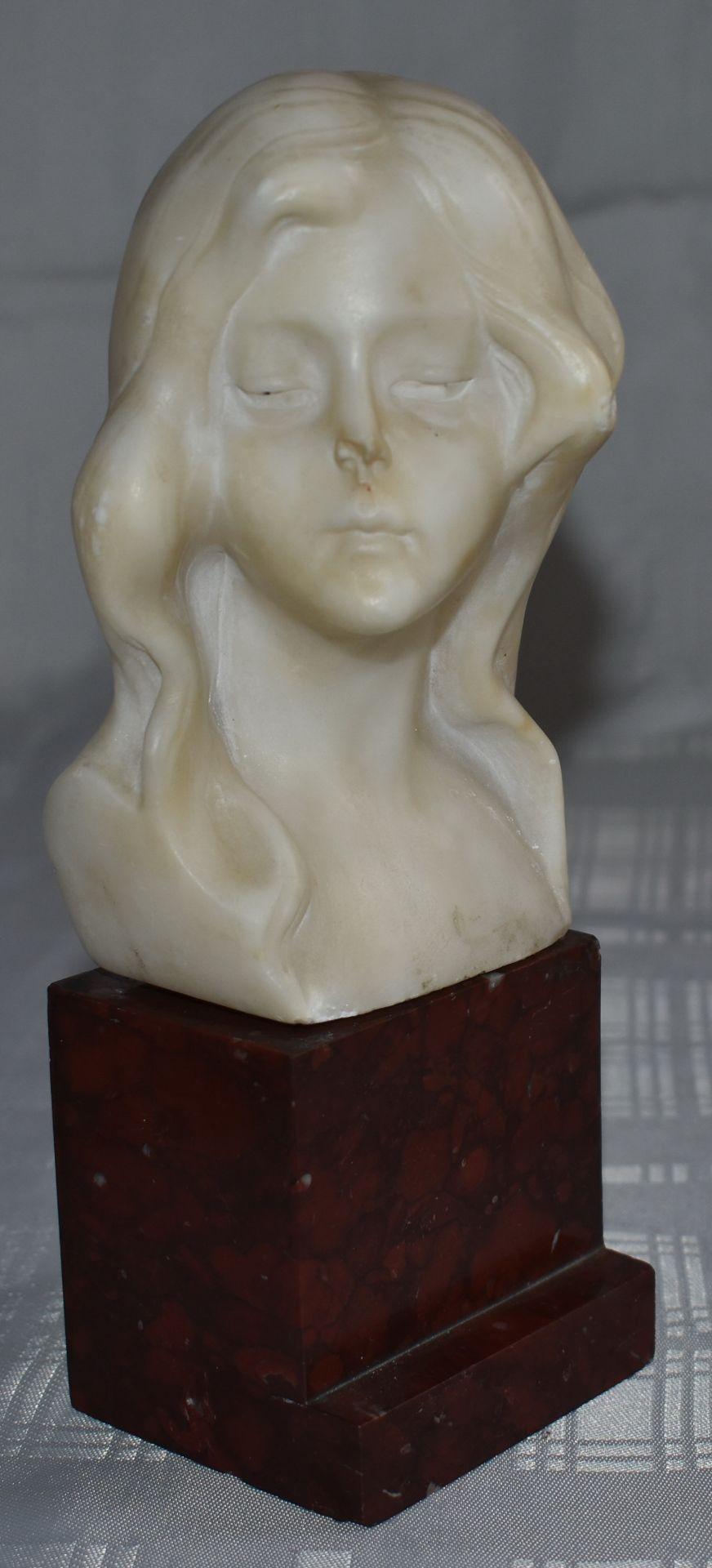 """Büste, """"Junges Mädchen"""", Frankreich um 1905, - Bild 2 aus 2"""