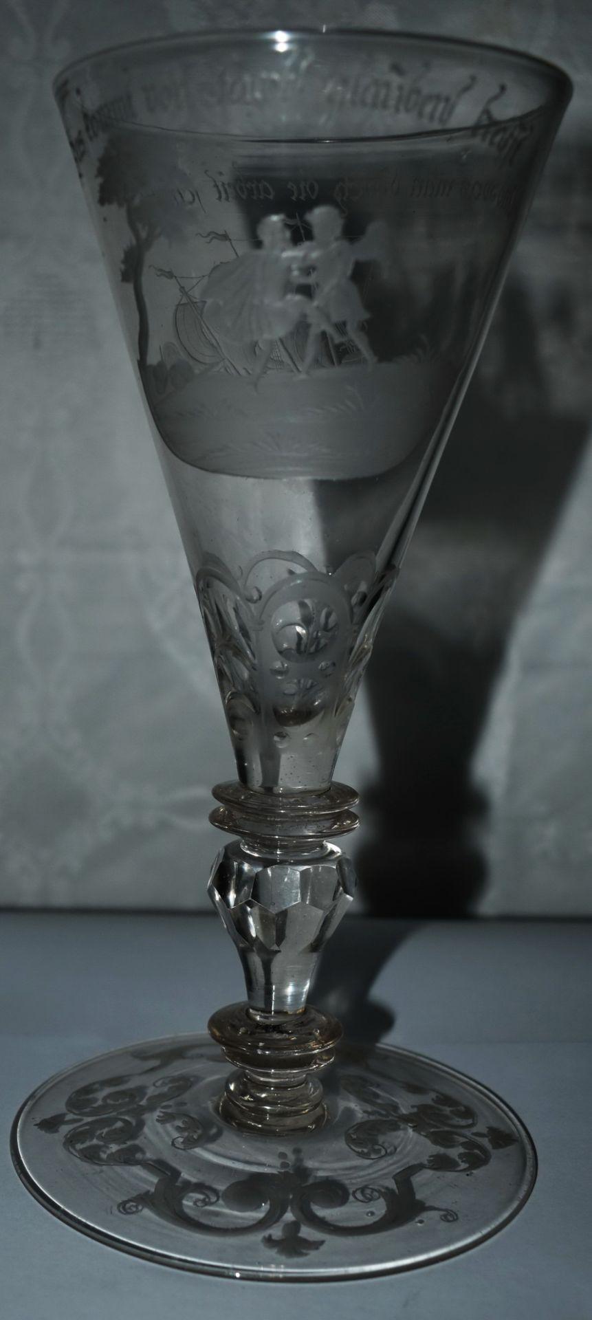 Glaspokal, um 1780,