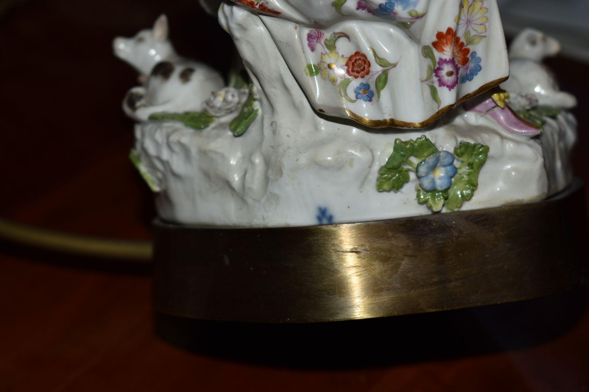 """Meissen Lampe, """"Paar mit Schäfchen"""", - Bild 4 aus 4"""