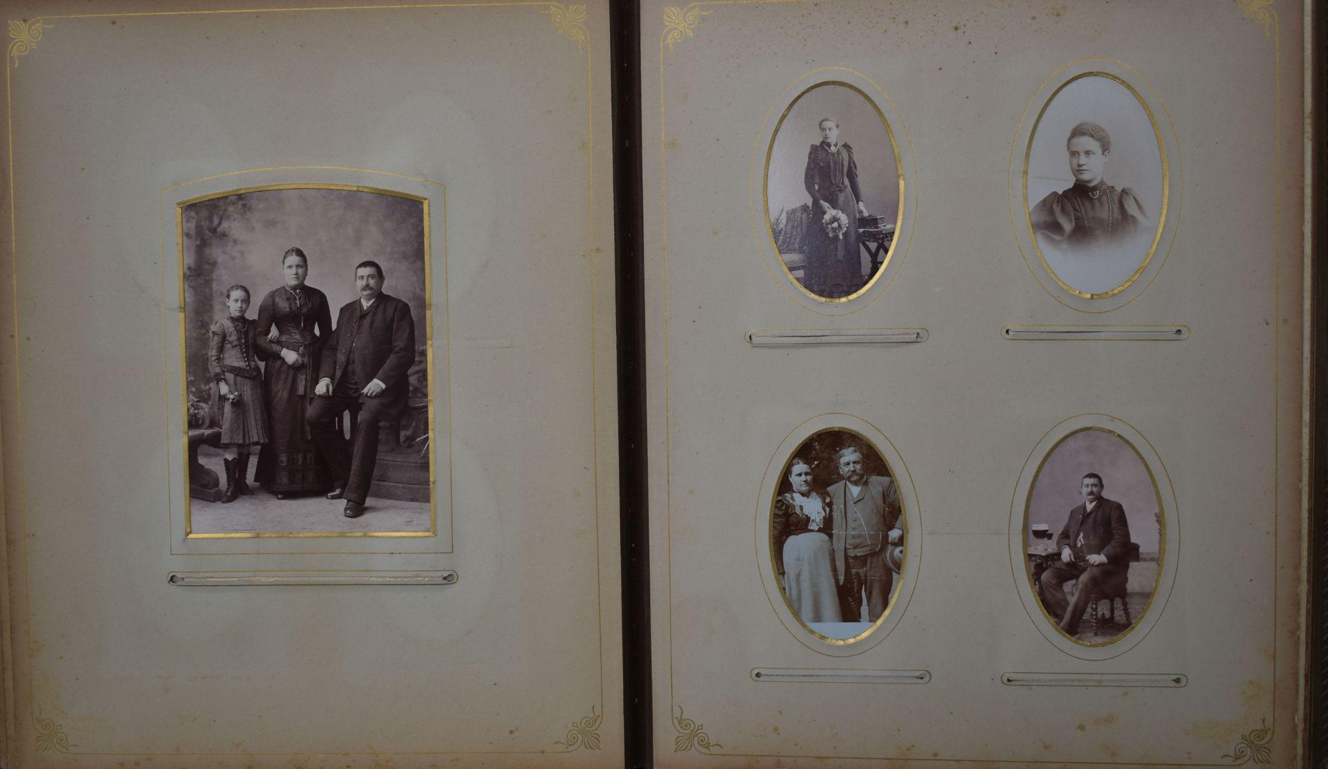 Fotoalbum, Deutsch um 1880, - Bild 3 aus 5