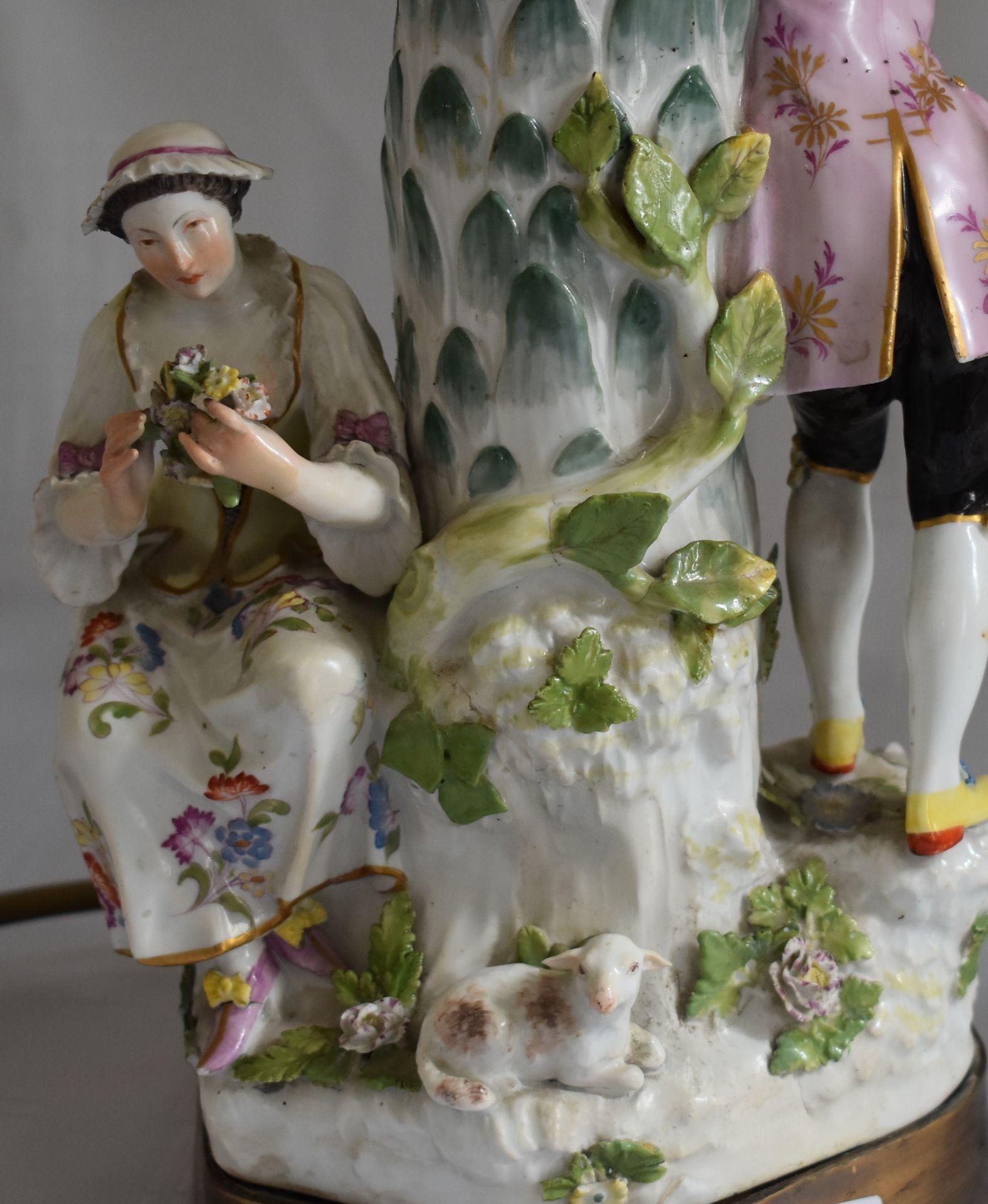 """Meissen Lampe, """"Paar mit Schäfchen"""", - Bild 2 aus 4"""