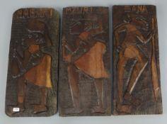 3 AFRIKANISCHE RELIEFS