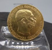 GOLDMÜNZE - 100 KRONEN