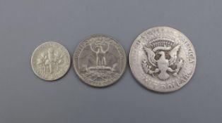 DREI MÜNZEN VON 1959-1965: Amerika