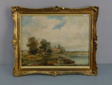 """SIR ALFRED EAST - GEMÄLDE: """"VIEW OF THE COTSWOLDS"""""""