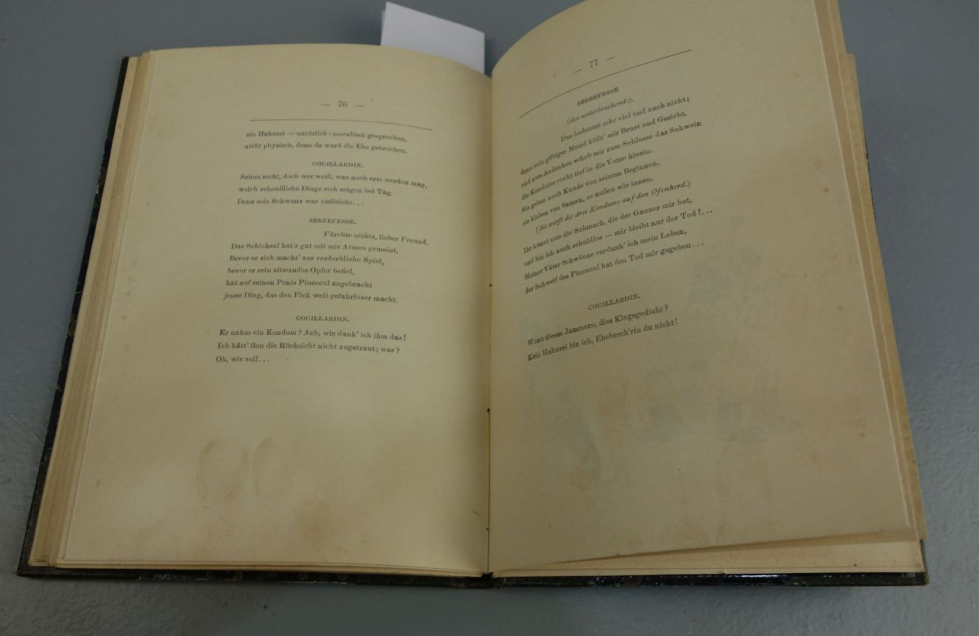 BUCH MIT EROTISCHEN ILLUSTRATIONEN VON 1910 - Image 5 of 6