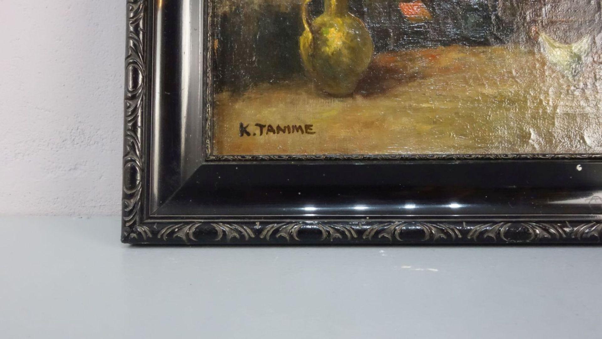 """K. TAMME - GEMÄLDE: """"INTERIEUR MIT BÄUERLICHER STUBE"""" - Image 2 of 3"""