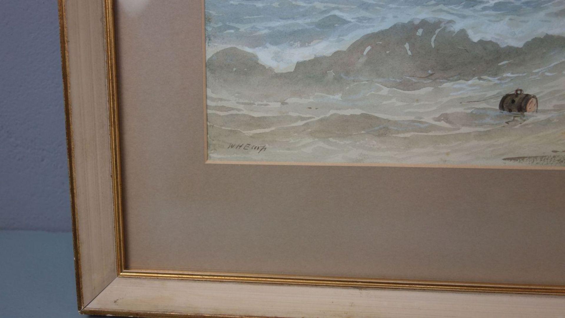 "WILLIAM HENRY EARRP - AQUARELL: ""FISCHER UND BOOTE AN FELSIGER KÜSTE"" - Bild 2 aus 3"