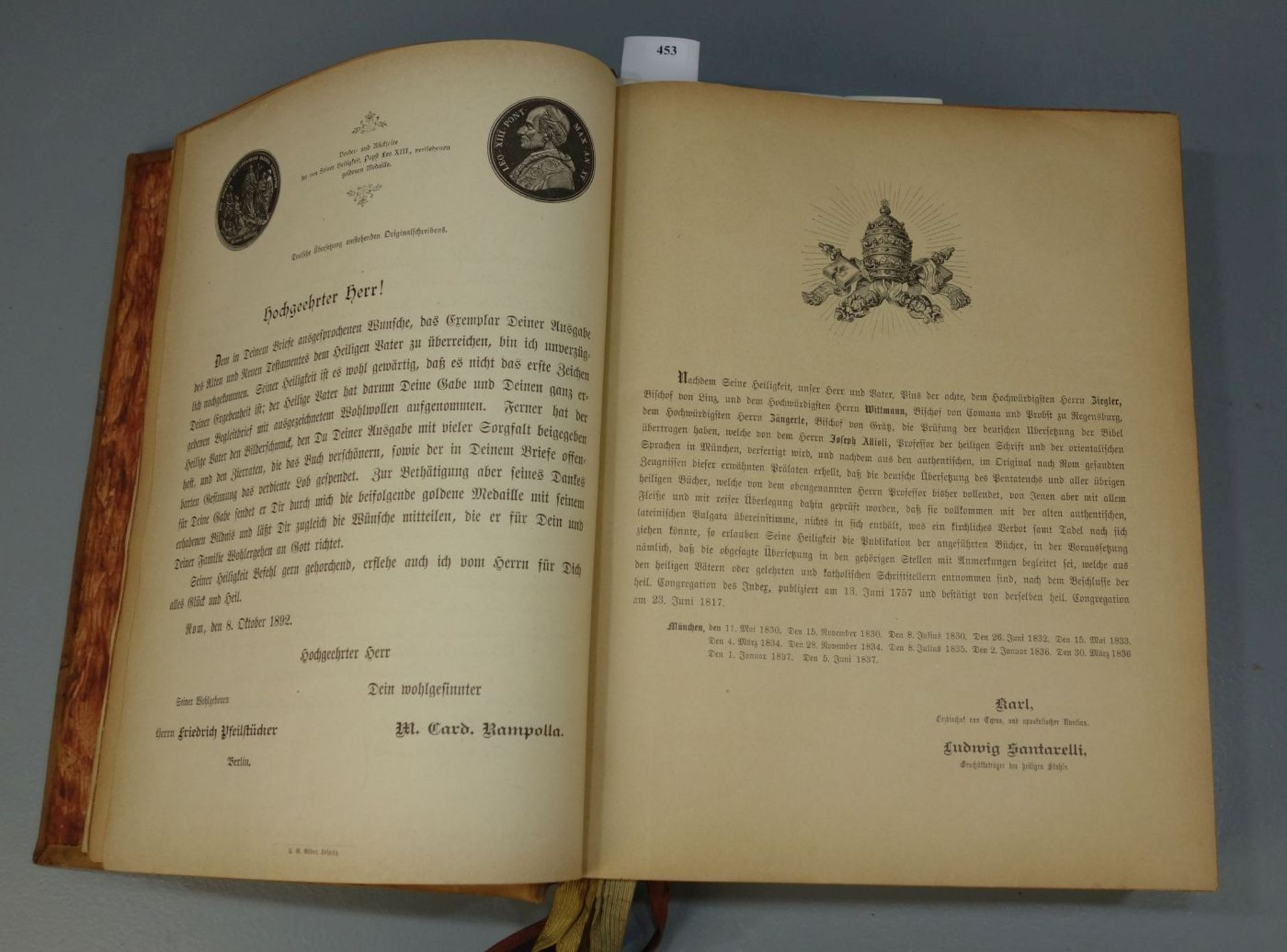 BIBEL IM LEDEREINBAND - Bild 8 aus 8
