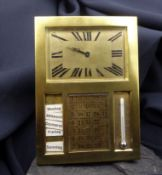 desk calendar with clock