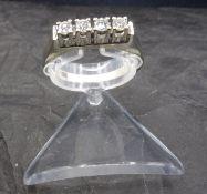RING - 585 white gold