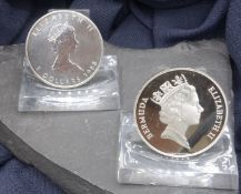 SILVER COINS: MAPLE LEAF AND BERMUDA