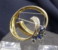BROOCH WITH SAPHIRES