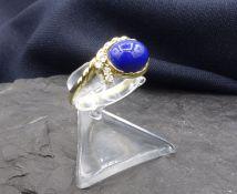 RING WITH LAPISLAZULI