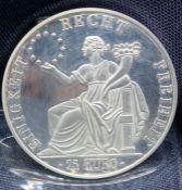 SILVER COIN 25 EURO