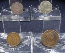 FOUR COINS FROM 1758-1804