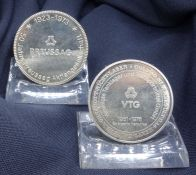 TWO SILVER MEDALS PREUSSAG AND VTG
