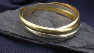 TRICOLOR BRACELET - 585 gold