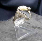 RING WITH BEAD AND SHIVE FRAGMENT