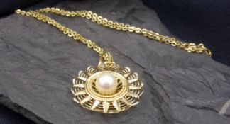 CHAIN WITH PEARL HANGER