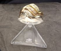 TRICOLOR RING - 585 gold