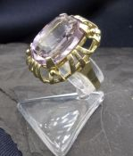 RING WITH AMETHYST, 585 yellow gold