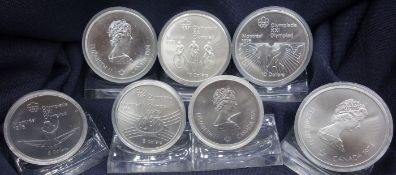 CONVOLUTE COINS: Olympic Games in Montréal 1976