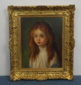 """JOS. FRANK (20TH C.) - PAINTING: """"CRYING GIRL""""."""