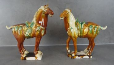 PAIR OF HORSES IN TANG - STYLE