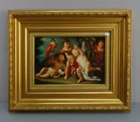 """PAINTING: """"PUTTI AN BIRDS IN A PARK"""""""
