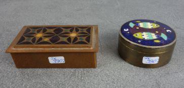 PAIR OF CLOISONNÉ - BOXES
