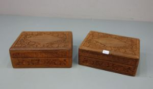PAIR OF BOXES