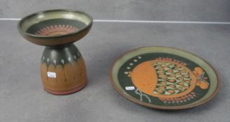 CANDLE STAND AND PLATE